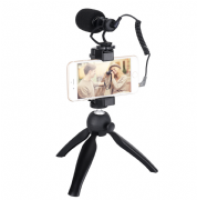 COMICA ON-CAMERA DIRECTIONAL MIC CON PHONE HOLDER